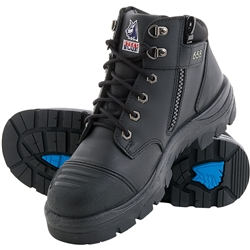 Steel Blue Parkes 95cm Z/Sided Safety Hiker Boots w/ Scuff Cap 312658