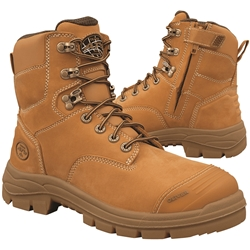 Oliver AT 55 150mm Wheat Zip Sided Safety Boots