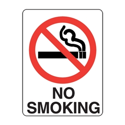 No Smoking Poly Sign 600x450mm