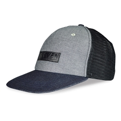 ELEVEN Workwear Leather Embossed Trucker Cap