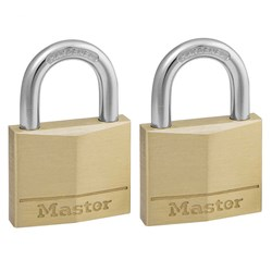 Master Lock® Padlock Diamond Brass 40x22mm Padlock (2pk) 140TAU