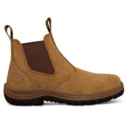 Oliver Beige Elastic Sided Safety Boots 34-624