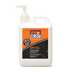 Paramount Sunscreen Pro Block 50+ 1 Litre Pump Bottle SS1-50