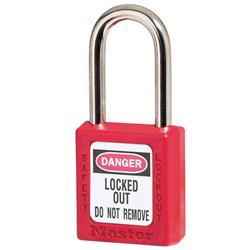 Master Lock® Red Zenex™ Thermoplastic Safety Padlock 410RED