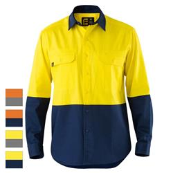 ELEVEN Workwear Evolution Hi-Vis L/S Drill Spliced Shirt
