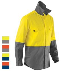 ELEVEN Workwear AeroCOOL Spliced Hi-Vis Feather Drill L/S Shirt