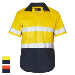 ELEVEN Workwear AEROCOOL Hi Vis Spliced Hoop Taped S/S Shirt