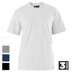 ELEVEN Workwear Essential Cotton S/S T-Shirt (Pk 3)