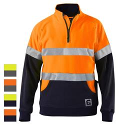ELEVEN Workwear Evolution Spliced Hi-Vis Spliced Stretch 3M™ Taped Jumper